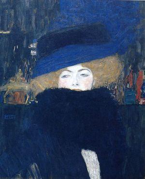 Femme au chapeau Klimt