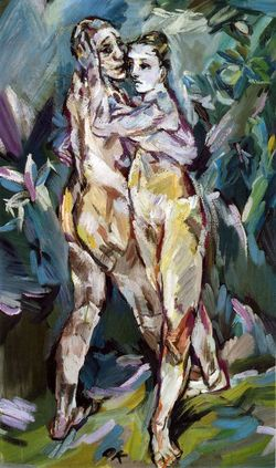 Couple 'amants Kokoschka