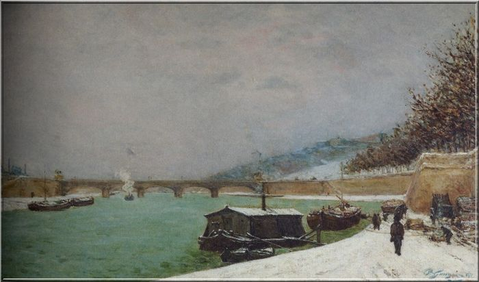 Gauguin La  Seine au pont d'Iena